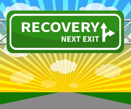 convalescence: Recovery Sign Meaning Get Back 3d Illustration Stock Photo
