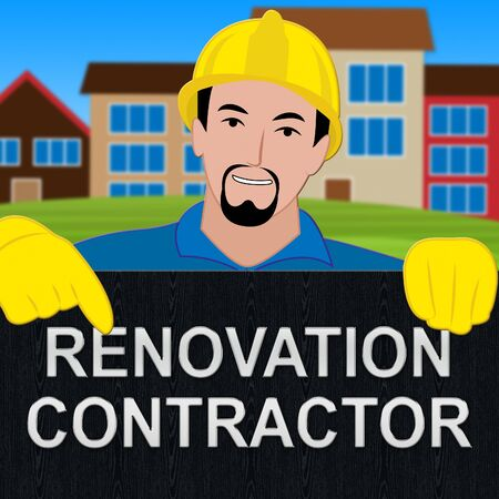 Renovation Contractor Means Make Over Home 3d Illustration