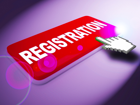Registration Key Meaning Membership Admission 3d Rendering Stock Photo
