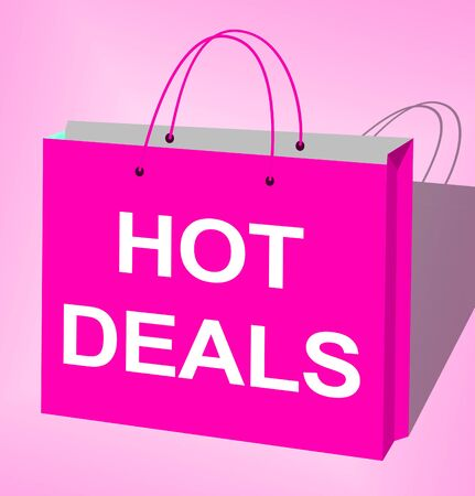 Hot Sale Bag Displays Best Deals 3d Illustration Stock Photo