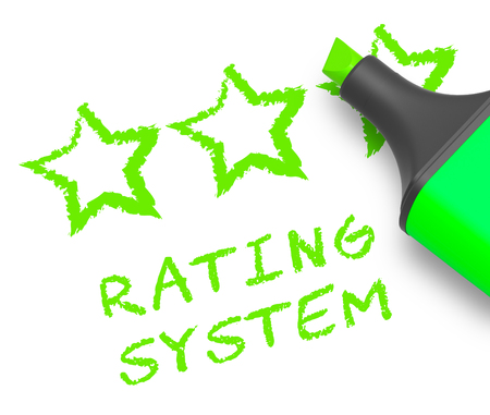 Rating System Stars Means Performance Report 3d Illustration Stock Photo