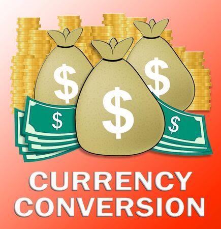 converter: Currency Conversion Dollars Shows Money Exchange 3d Illustration