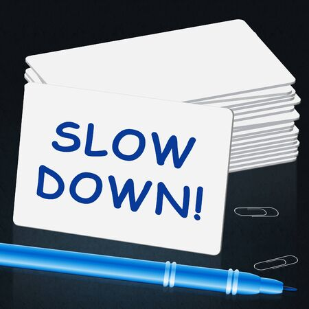Slow Down Message Means Slower 3d Illustration