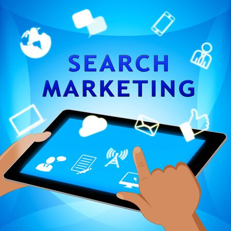 Search Marketing Showing Seo Engines 3d Illustration Stock Photo