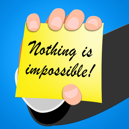 Nothing Is Impossible Message Note Paper 3d Illustration