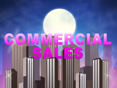 Commercial Sales Skyscrapers Means Real Estate Property 3d Illustration