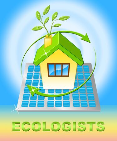 Ecologists House Displaying Earth Day Environment 3d Illustration