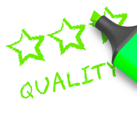 Quality Stars Displays Approval Survey 3d Illustration