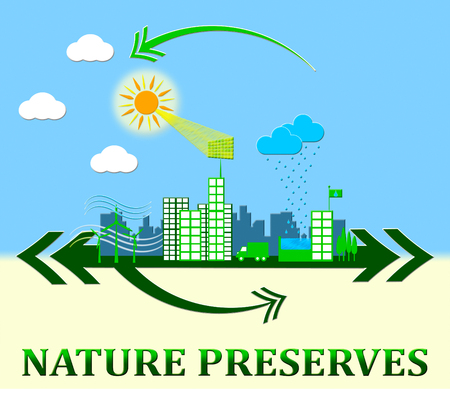 Nature Preserves Town Showing Eco Conservation 3d Illustration