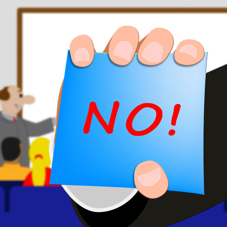 No Message Meaning Declined Or Forbidden 3d Illustration