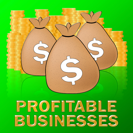 Profitable Businesses Dollars Means Trade Success 3d Illustration
