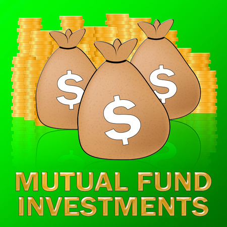 Mutual Fund Investments Dollars Means Stock Market 3d Illustration