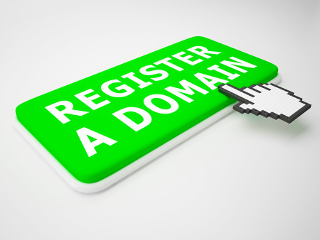 Register A Domain Key Indicates Sign Up 3d Rendering