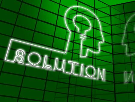 Oplossingshersenen die Succesvolle en Resolutie 3d Illustratie oplossen oplossen