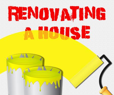 Renovating A House Paint Displays Home Renovation 3d Illustration