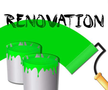 Home Renovation Paint Displays House Improvement 3d Illustration Stock Photo
