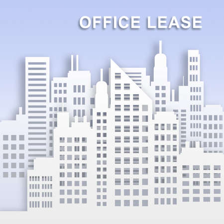 Office Lease Skyscrapers Represents Office Property Buildings 3d Illustration