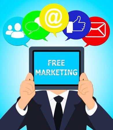 Free Marketing Representing Biz E-Marketing 3d Illustration Stock Photo