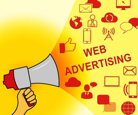 Web Advertising Icons Representing Site Marketing 3d Illustration Stock Photo