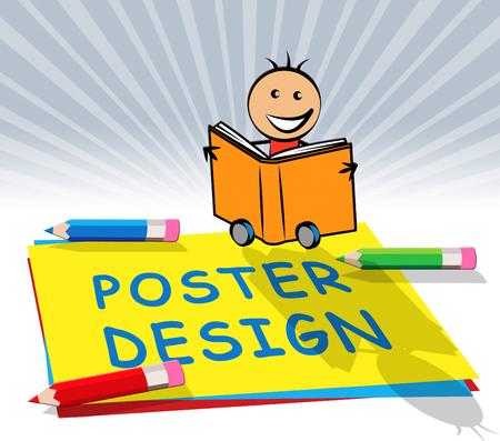 Poster Design Paper Displays Creative Billboard 3d Illustration