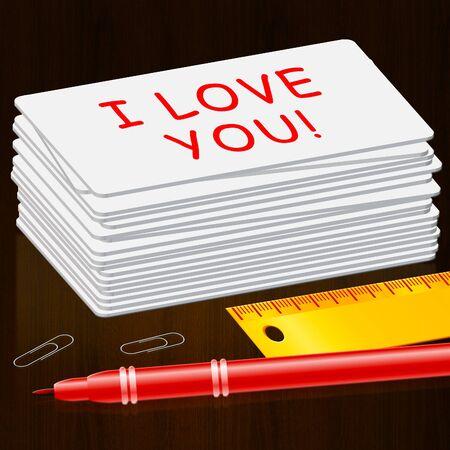 あなたを愛して愛するあなたの心を表す 3 d イラストレーション