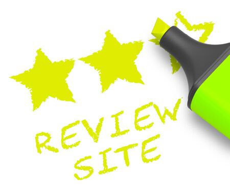 Review Site Stars Means Website Performance 3d Illustration