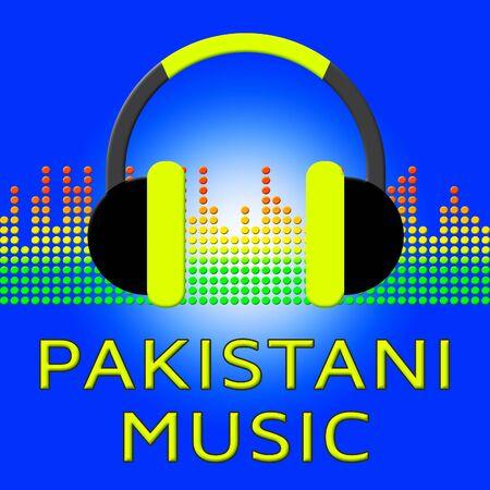 Pakistani Music Earphones Means Pakistan Songs 3d Illustration