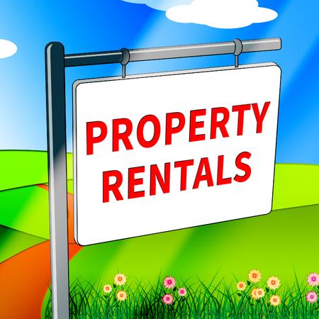 rentals: Property Rentals Showing Real Estate 3d Illustration