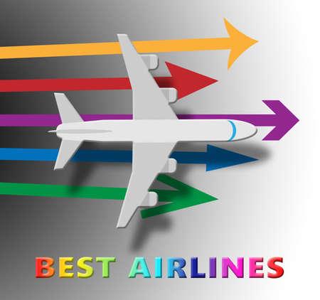 Best Airlines Plane Means Top Airline 3d Illustration