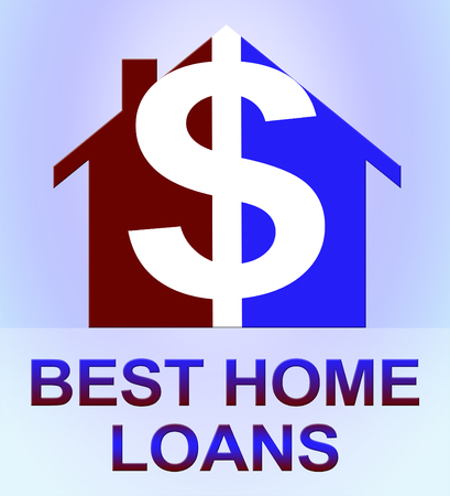 Best Home Loans Dollar Icon Means Top Mortgages 3d Illustration Stock Photo