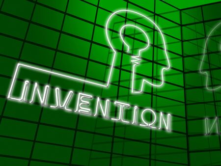 invents: Invention Brain Meaning Innovating Invents And Innovating 3d Illustration Stock Photo
