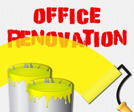 Office Renovation Paint Displays Company Upgrading 3d Illustration