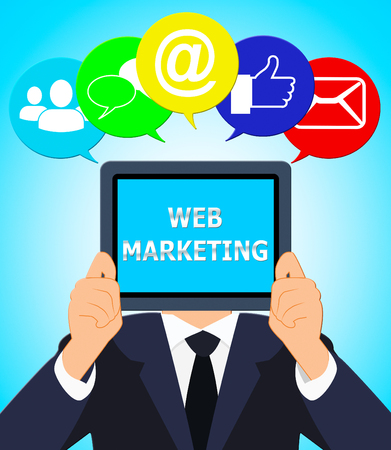 Web Marketing Meaning Network Sem 3d Illustration