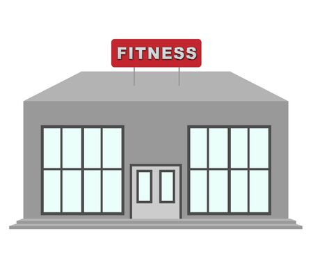 Fitness Center Gym Means Work Out 3d Illustration