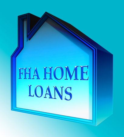 loaning: FHA Home Loans House Shows Federal Housing Administration 3d Rendering