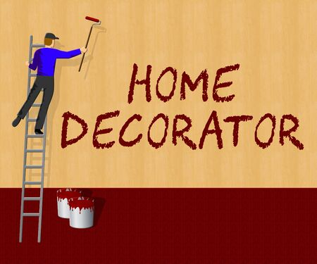 Home Decorator Shows House Painting 3d Illustration