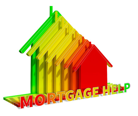 Mortgage Help Eco House Means Real Estate 3d Illustration