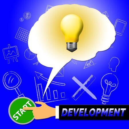 Development Light Meaning Growth Progress 3d Illustration Stock Photo