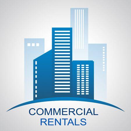 rentals: Commercial Rentals Skyscrapers Describing Real Estate Buildings 3d Illustration
