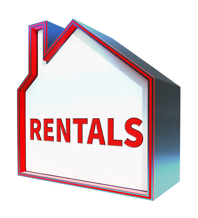 rentals: Property Rentals House Meaning Real Estate 3d Rendering Stock Photo