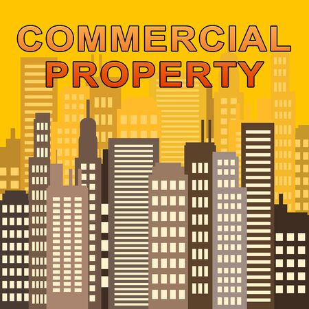 Commercial Property Skyscrapers Means Offices Real Estate 3d Illustration Stock Photo