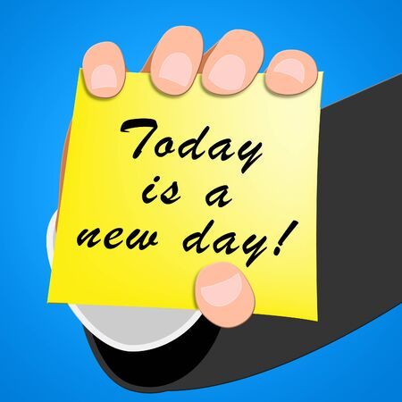 Today Is A New Day Showing Joy 3d Illustration
