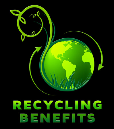 reusing: Recycling Benefits Showing Perks Of Reusing 3d Illustration Stock Photo