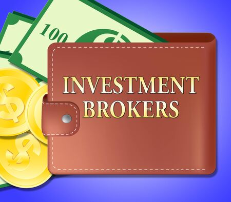 Investment Brokers Wallet Meaning Agent Investing 3d Illustration