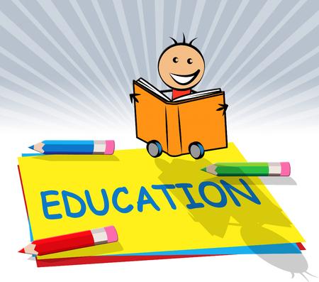 Education Equipment Paper Displays Learn Tutoring 3d Illustration