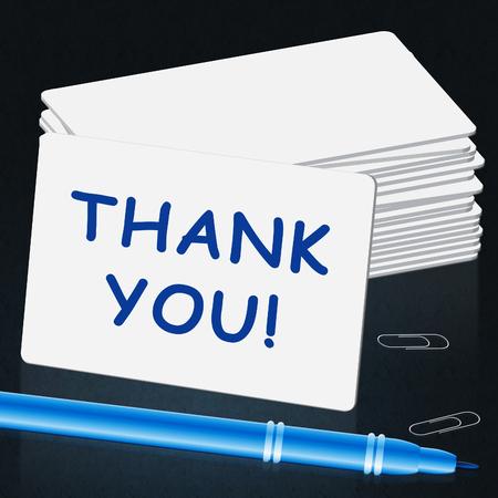 감사 카드 의미 감사 3d 일러스트 레이션 스톡 콘텐츠