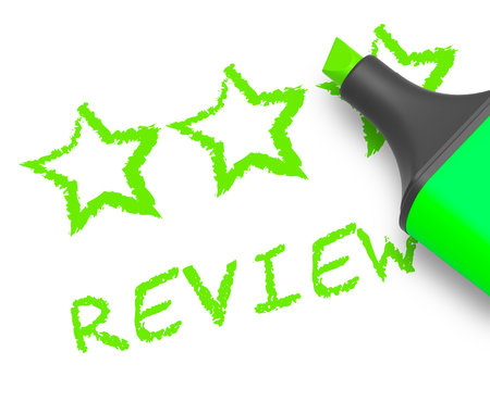 Review Stars Displays Feedback Report 3d Illustration