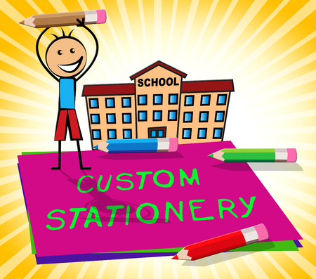 specially: Custom Stationery Paper Shows Personalized Supplies 3d Illustration