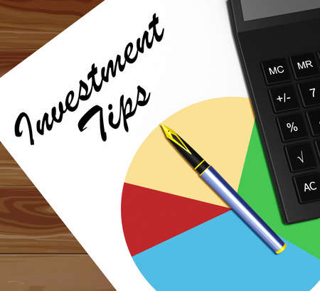 Investment Tips Graph Means Invested Information 3d Illustration Banco de Imagens