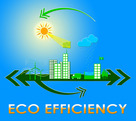 Eco Efficiency Town Meaning Earth Nature 3d Illustration